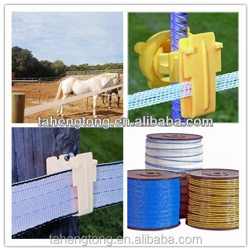 Plastic electric fence polytape for farm management