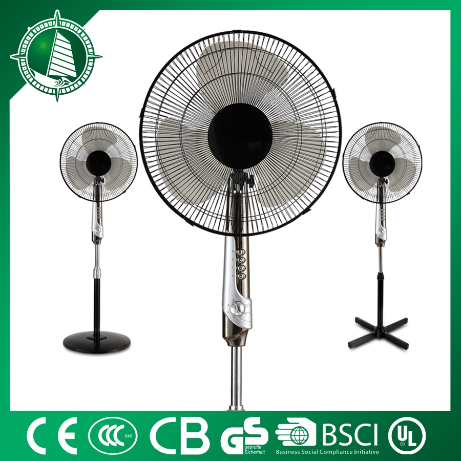 Ventilating rechargable cooling wireless 16 inch stand fan