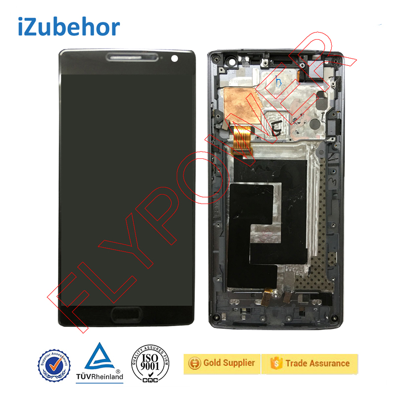 100% warranty <strong>lcd</strong> display with touch screen digitizer with Frame assembly for OPPO ONEPLUS 2 Two A2003 <strong>LCD</strong>