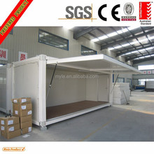 Australia standard EPS/PU sandwich panel insulation collapsible container house with one side door swing