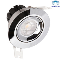 lamps for ceiling 11W 750lm chrome color COB LED ceiling light
