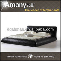 Genuine top layer real leather bed F8051-1