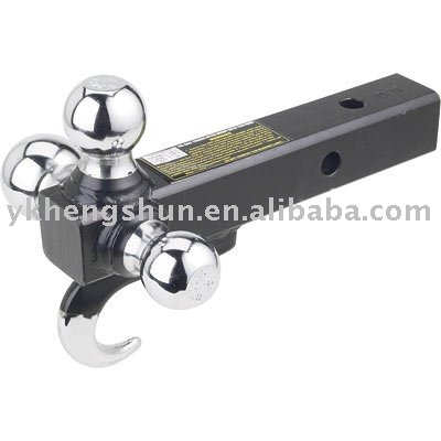 Tri-Ball Trailer Hitch Mount with Tow Hook