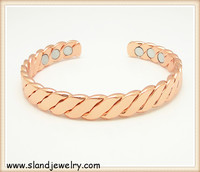 European style fashion design magnetic copper bracelet benefits for relieving arthritis,joint pain and keep balance