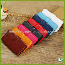 Shining leather stand case for iphone 5C