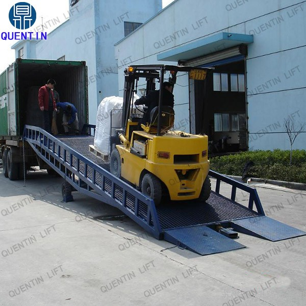 Hot sale hydraulic ramp lift / warehouse hydraulic ramp for truck