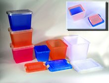 Stackable Modular Plastic Food Storage Box/Container/Canister Set