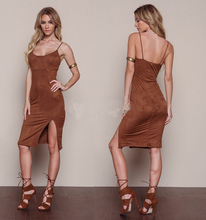 Guangzhou Clothing Factory Wholesale Women Clothing Supplier Suede Party Dress