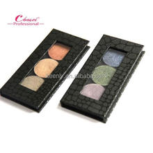 2016 mini size handmade magnetic paper palette for 3 eyeshadow single pans