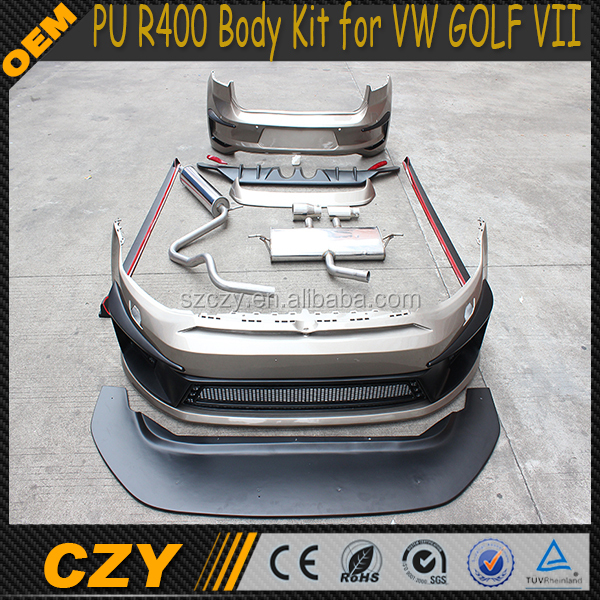 PU R400 Bumper and Body Kit for VW GOLF VII 7 MK7 R20 GTI R