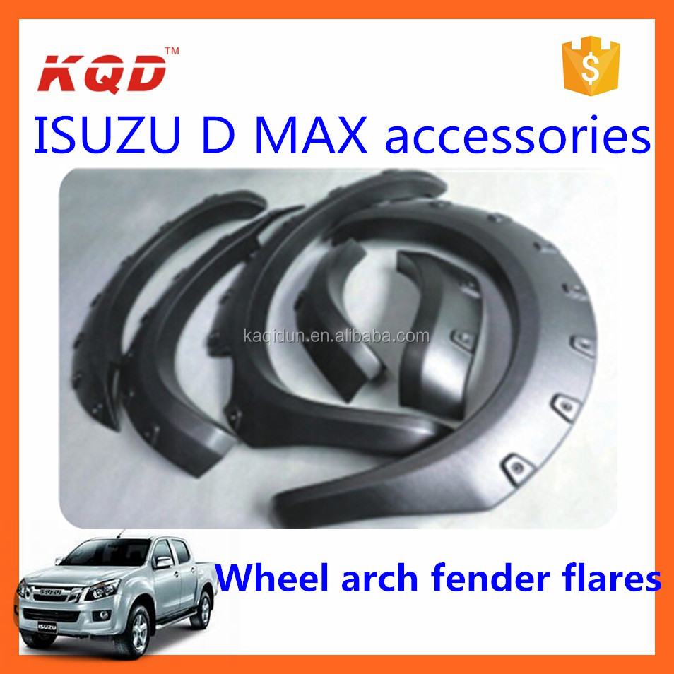 plastic wheel fender for isuzu2014 d max accessories 4x4 wheel arch flares body parts for car fender flares plastic wheel trims