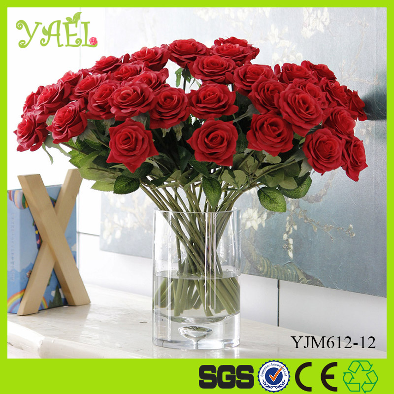 Wholesale Wedding Centerpiece Free Sample Cheap Artificial Red Rose Flower