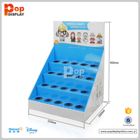 4 tiers cardboard counter display shelf pdq display stand with holes for retail