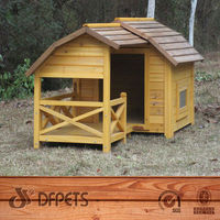Wood Cheap Dog Cage For Sale With Terrace DFD3012