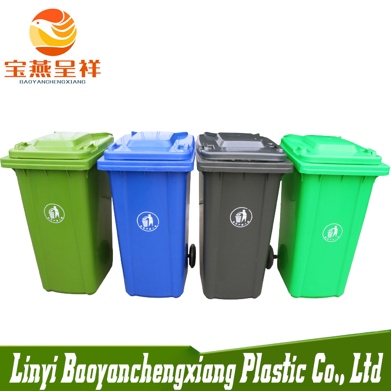 Factory Price Directly 120 Liter Green Plastic Dustbin with <strong>wheel</strong>