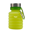 Green Collapsible Silicone  Water Bottle