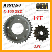 C110-BIZ Motorcycle Rear and Front Gear Box Sprocket Chain Set