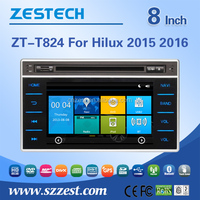 dvd car audio navigation system for Toyota Hilux 2015 2016 multimidea DVD player radio audio GPS