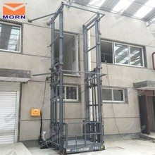 Top sale Guide rail cargo lift/electric cargo lift malaysia