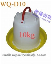 10kg chicken drinke/ High quality Manual plastic feeder and drinker /Poultry feeders and drinkers