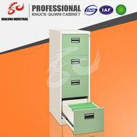 office used storage design metal 4 drawers stainless steel filing cabinet