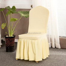Conference skin chair cover with ruffled skirt