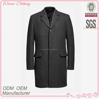 Fashion design elegant grey style long coat suit men