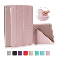 Leather Case For iPad 9.7 Pro 10.5 12.9 inch 2017 Ultra Thin Flip Cover Case tup soft skin friendly matte case Coque Fundas