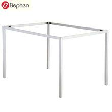 Easy Assembling Square Tube Glass top Dining Office Coffee Metal Table Frame and Legs