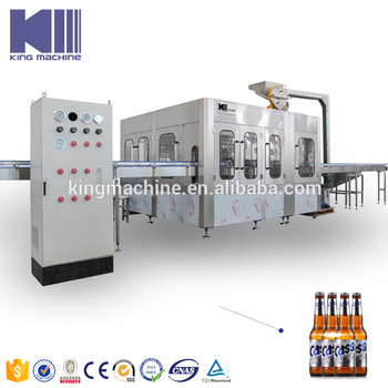 Commercial beer glass bottling equipment for sale