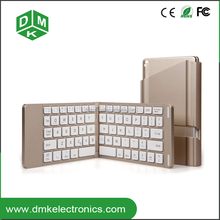 aluminum shell mini foldable keyboard with tablet pc stand made by metal