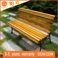 Contemporary Green Life Metal Outdoor Furniture Garden Park Wooden Long Bench Chair
