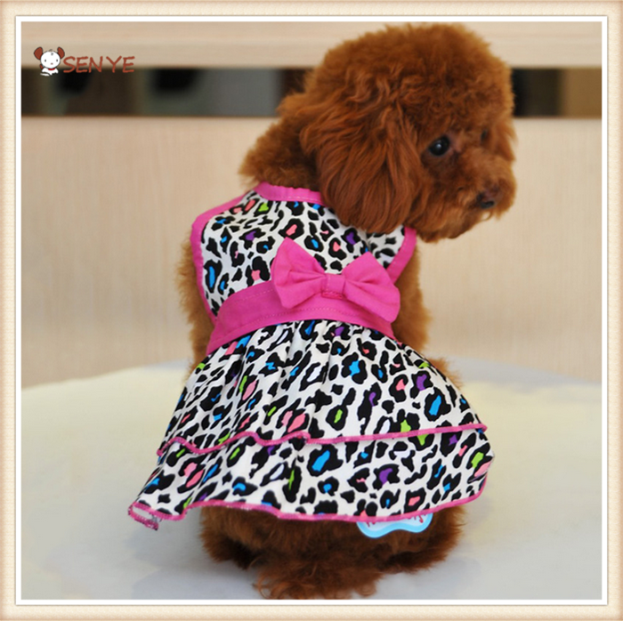 Pet Clothing Dog Clothes Dog Apron Clothes Leopard Sexy Dog Clothes