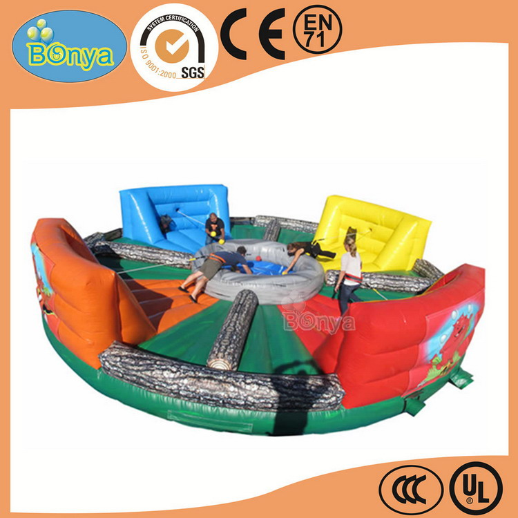 China manufacture first grade inflatable bungee run fighting sumo