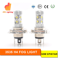 2016 new arrival 50w led car fog light h4 h7 h8 h11 9005 9006 auto led 12v