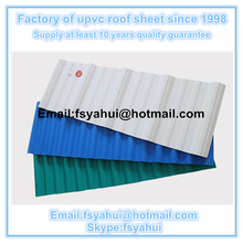 PVC plastic roof tile Ultra weathering anti-corrosion