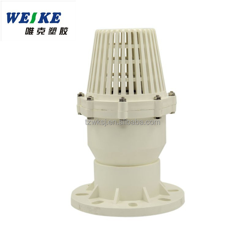 Plastic pvc foot valve with flange strainer buy