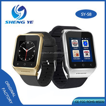 2017 new design high quality wifi 3g touch smart watch S8 with Sim Card mobile phone with lowest price