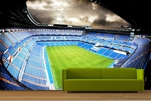 Low price wholesale wall decor fantastic football stadium wallpepr wallcovering