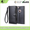 Factory Price Leather Flip Case withHand Chain&Card Slot For iPhone 6s