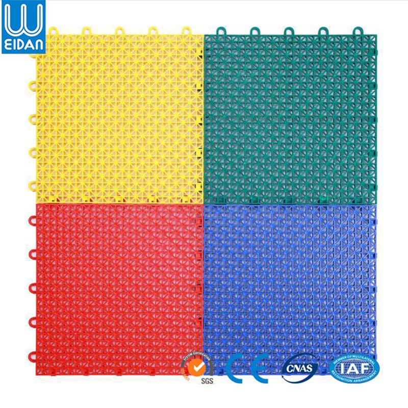 Modular basketball court interlocking outdoor sports flooring