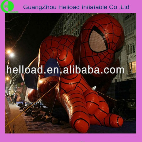 commercial outdoor large inflatable cartoon character figure, inflatable spider man model for sale