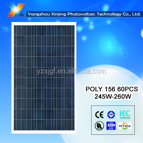 high efficiency best solar panel cost <strong>poly</strong> 250watt