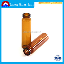 Health and Medical Liquid Medicine amber glass vial