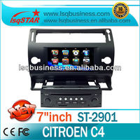 Wholesale LSQ Star Citroen C4 Car Multimedia Navigation System With Gps/bt/fm/am/dvd/tv/usb/sd/steering Wheel Control/canbus...