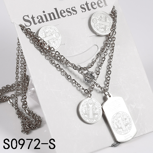 Hot sale ! New fashion Jewelry in silver stainless steel high quality resonable price classical style jewelry set for women