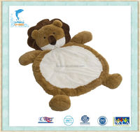 35 inch super warm Lion shape baby play Gym playmat Soft fabric mat