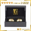 China OEM factory hardware luxury 24k gold golf ball for gifts