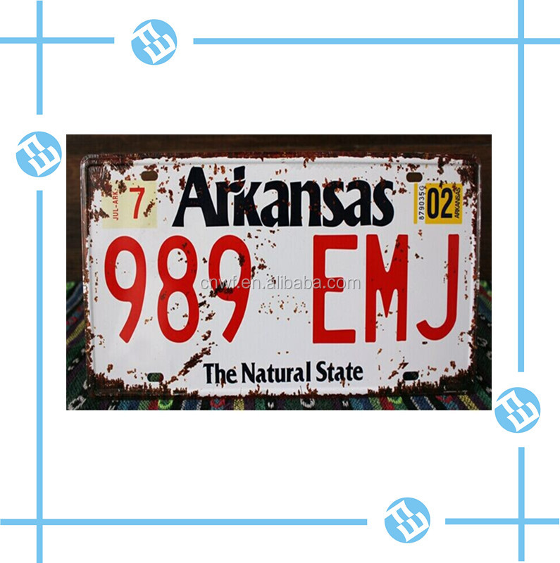 America license plate car plate number plate