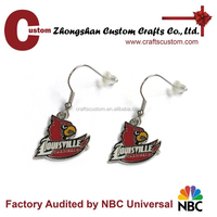 new fashion design animal shaped crazy bird earrings, custom shape earrings